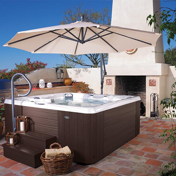 caldera spas spa side umbrella robinson 39 s hot tubs. Black Bedroom Furniture Sets. Home Design Ideas