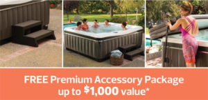 Free Accessory package at Robinson's Hot Tubs