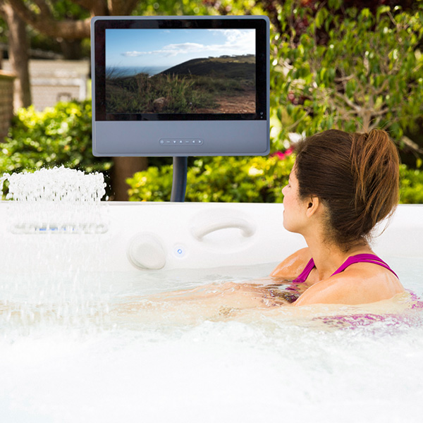 HD monitor at Robinson's Hot Tubs